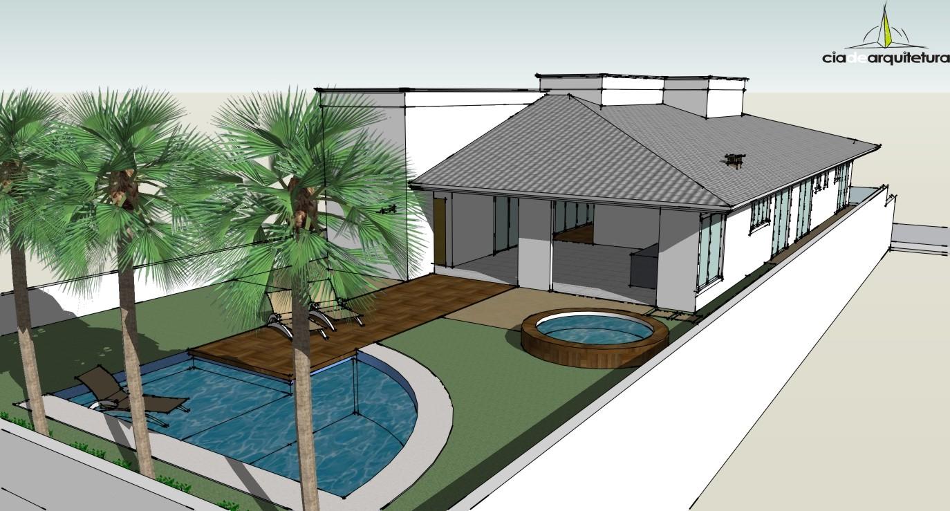 Sketchup blog cia de arquitetura for Casa moderna sketchup download
