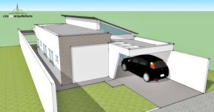 Fachada de casa pequena por Cia de Arquitetura