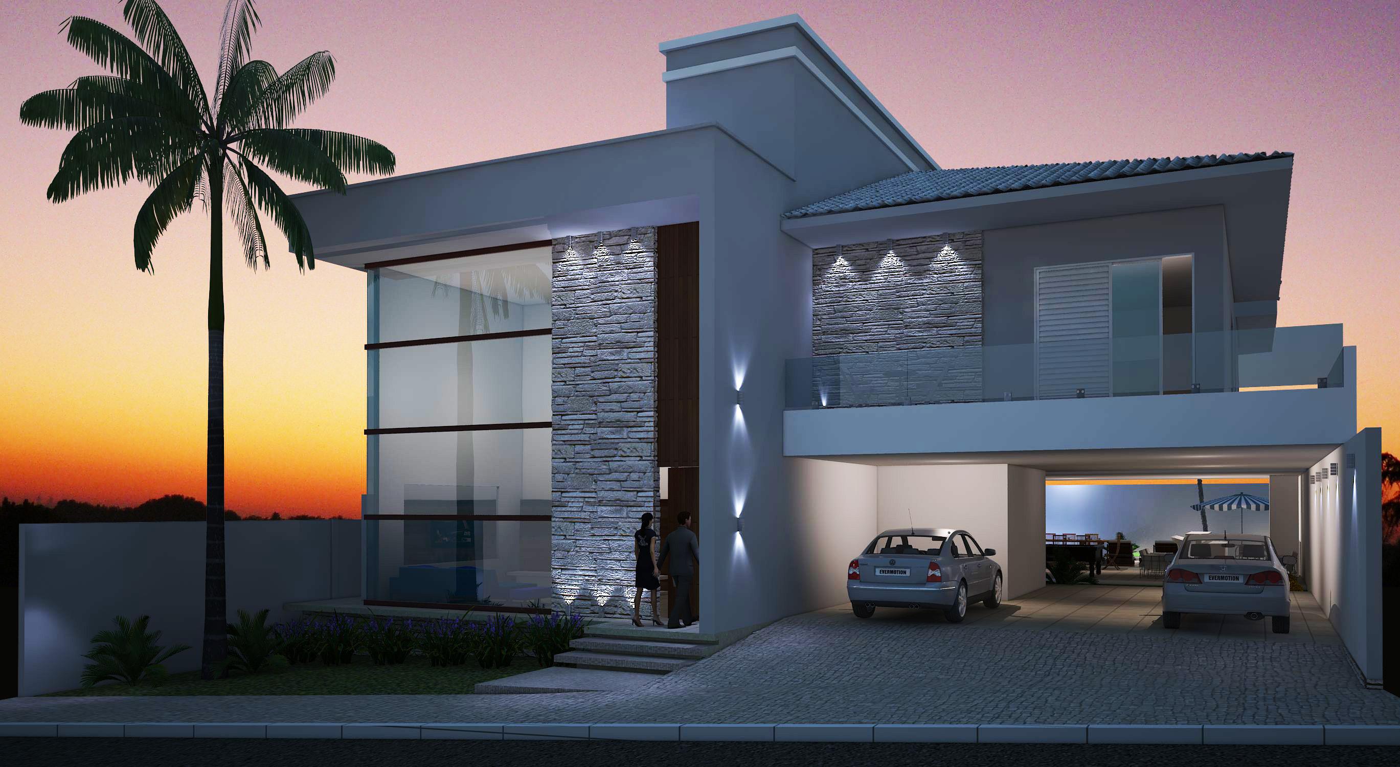 casa do meio Blog Cia de Arquitetura #B85F13 2738 1500
